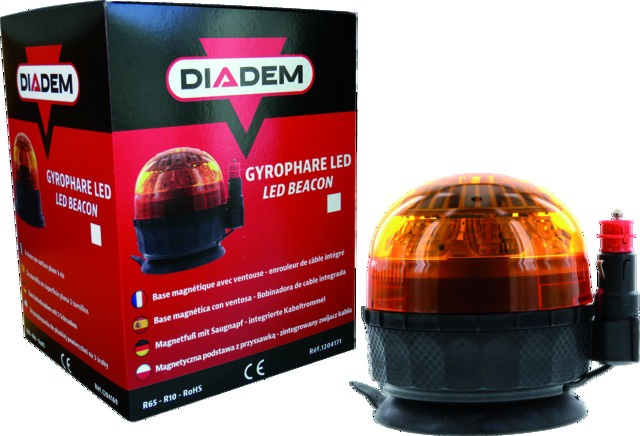 GYROPHARE LED DIADEM MAGNETIQUE + CABLE