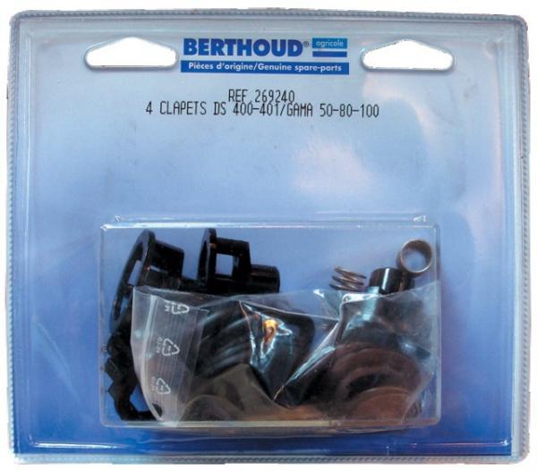 Kit 4 clapets pompe BERTHOUD DS400/401 – GAMA 50- 80 -100