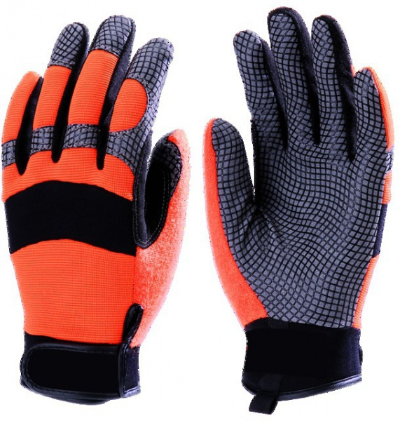 Paire gants paume cuir synthétique / Spandex Taille 8