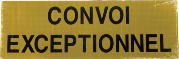 PANNEAU CONVOI EXCEPTIONNEL RETROREFLECHISSANT 1200X400