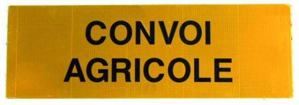 Panneau rigide aluminium CONVOI AGRICOLE Classe 2