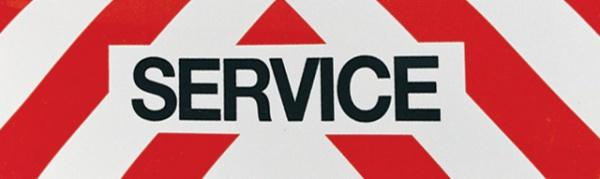 PANNEAU SERVICE REFLECHISSANT 50x15 MAGNETIQUE