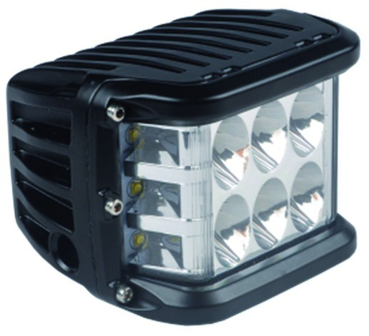 PHARE A LED DROIT RECTANGLE 12/24V 36W 2800LM ECLAIRAGE 90°