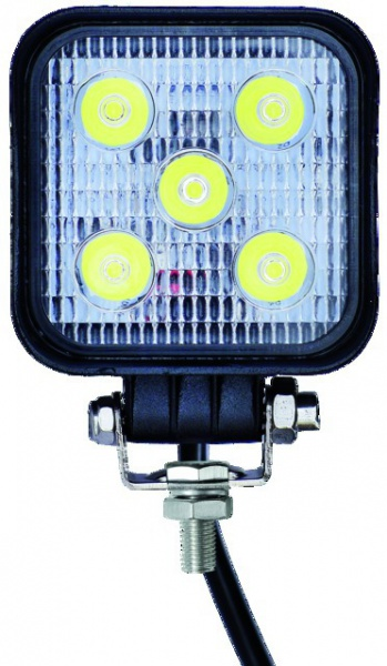PHARE LED CARRE 12/24V 15W 600LM ECLAIRAGE LARGE