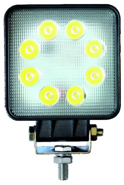 PHARE LED CARRE 12/24V 24W 1200LM ECLAIRAGE LARGE