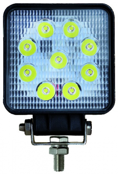 PHARE LED CARRE 12/24V 27W 1400LM ECLAIRAGE LARGE
