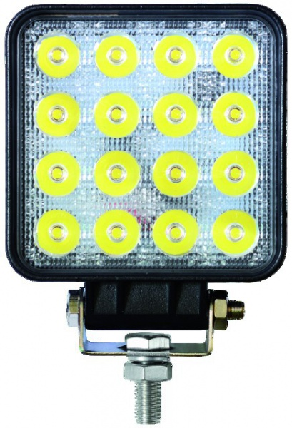 PHARE LED CARRE 12/24V 48W 2400LM ECLAIRAGE LARGE