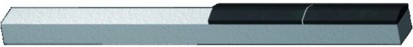 Profilé à souder carbure herse rotative 90X16X14 mm