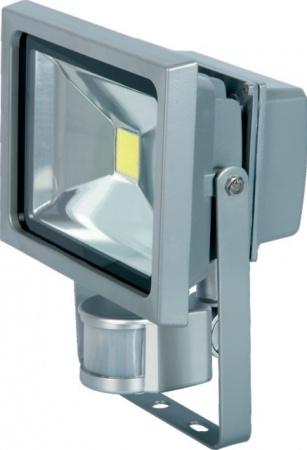 PROJECTEUR ALU LED 220V 20W 1440 LMS+DETEC. GRIS