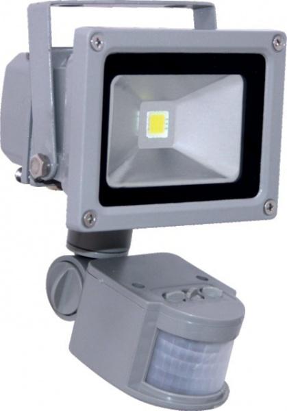 PROJECTEUR ALU LED 220V 30W 2160 LMS+DETEC.GRIS