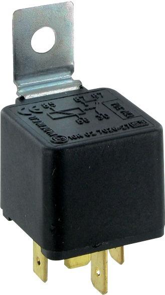 RELAIS 12V-30A-5 BORNES 5X6,3mm