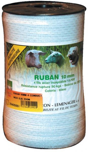 RUBAN 10MM 4 CONDUCTEURS INOX 0,15 200M