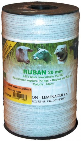 RUBAN 12.5MM 4 CONDUCT.INOX 0,20 200M