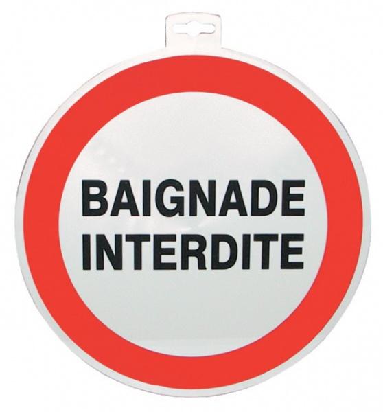 """SIGNALETIQUE \""""BAIGNADE INTERDITE \"""""""