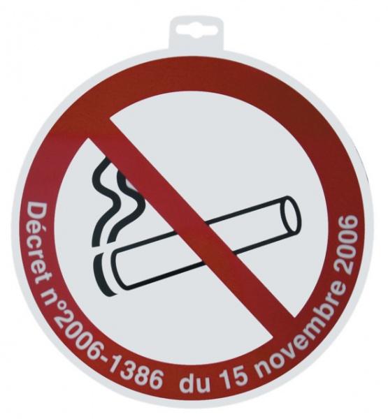 "SIGNALETIQUE \""DEFENSE DE FUMER + DECRET\"""