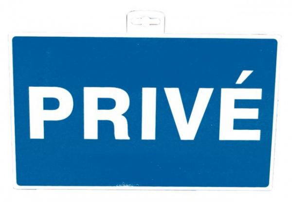 """SIGNALETIQUE \""""PRIVE 330X200\"""""""