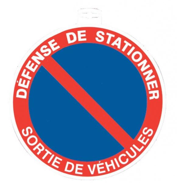 SIGNALETIQUE DEFENSE DE STATIONNER SORTIE DE VEHICULES