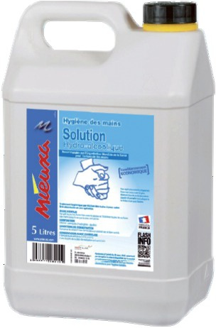 SOLUTION HYDROALCOOLIQUE (5L)