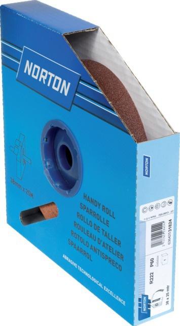 TOILE CORINDON R222 38MMX25M GRADE 60 ROULEAU