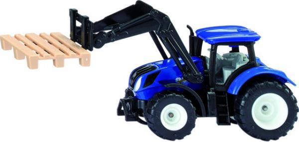 Tracteur new holland avec fourche a palettes au 1/50eme