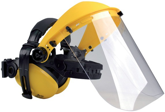 VISIERE PROTECTION POLYCARBONATE + CASQUE ANTI-BRUIT OREGON